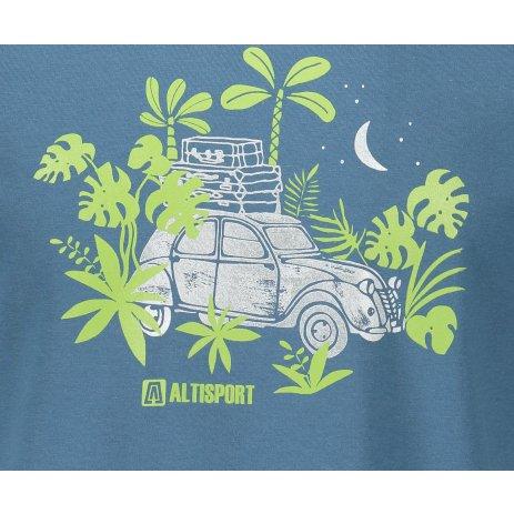 Pánské triko ALTISPORT ALM059129 DENIM