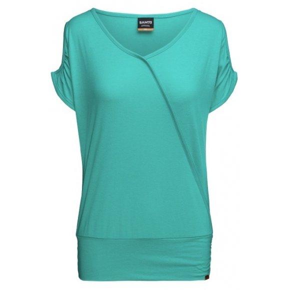 Dámské triko s krátkým rukávem SAM 73 JULIA WT 822 ZELENÁ NEON