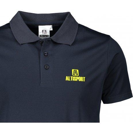 Pánské funkční triko s límečkem ALTISPORT ALM006217 NÁMOŘNÍ MODRÁ