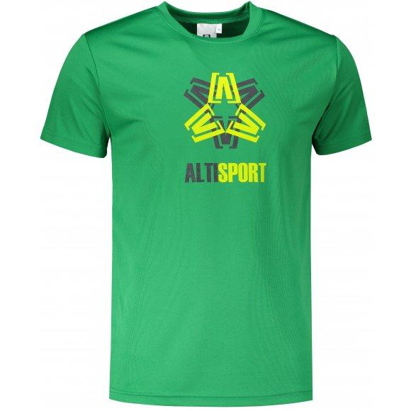 Pánské funkční triko ALTISPORT ALM046124 STŘEDNĚ ZELENÁ