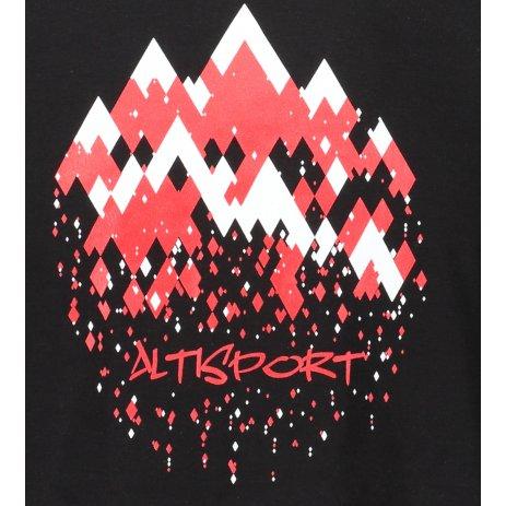 Pánské triko ALTISPORT ALM068129 ČERNOČERVENÁ