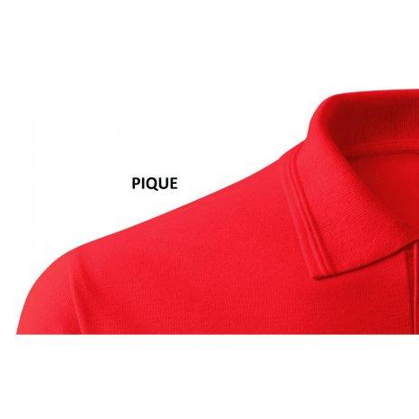 Pánské triko s límečkem ALTISPORT ALM071203 ČERVENÁ