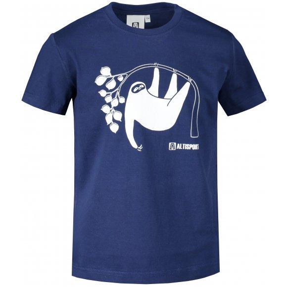 Dětské triko ALTISPORT ALK070138 PŮLNOČNÍ MODRÁ