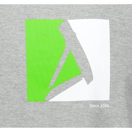 Pánské triko ALTISPORT ALM069129 TMAVĚ ŠEDÝ MELÍR