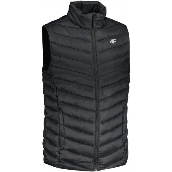 Pánská péřová vesta 4F H4L21-KUMP001 DEEP BLACK