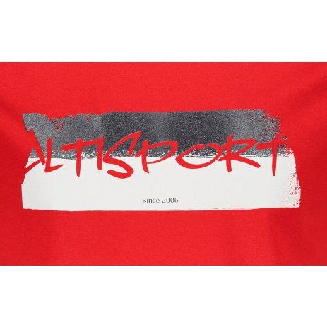 Pánské triko ALTISPORT ALM074129 ČERVENÁ