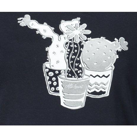 Dámské triko ALTISPORT ALW073122 NÁMOŘNÍ MODRÁ/STŘÍBRNÁ