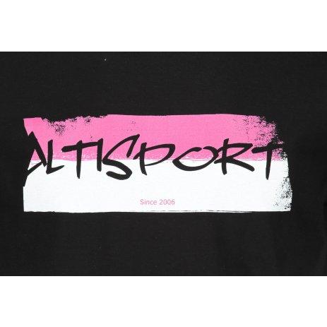 Pánské triko ALTISPORT ALM074129 ČERNÁ