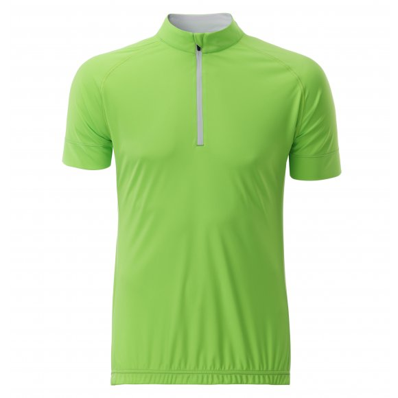 Pánský cyklo dres JAMES NICHOLSON JN514 BRIGHT GREEN/WHITE
