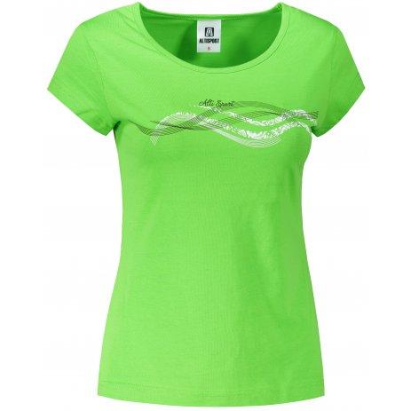 Dámské triko ALTISPORT ALW085122 APPLE GREEN