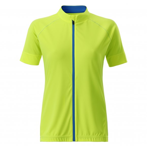 Dámský cyklo dres JAMES NICHOLSON JN515 BRIGHT YELLOW/BRIGHT BLUE
