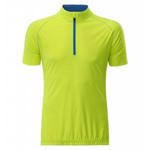 Pánský cyklo dres JAMES NICHOLSON JN514 BRIGHT YELLOW/BRIGHT BLUE
