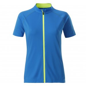 Dámský cyklo dres JAMES NICHOLSON JN515 BRIGHT BLUE/BRIGHT YELLOW
