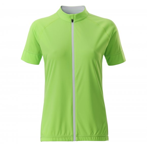 Dámský cyklo dres JAMES NICHOLSON JN515 BRIGHT GREEN/WHITE