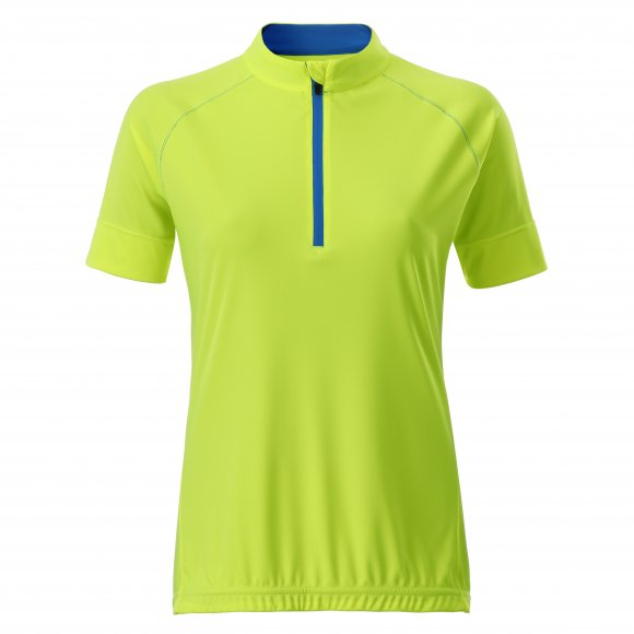 Dámský cyklo dres JAMES NICHOLSON JN513 BRIGHT YELLOW/BRIGHT BLUE