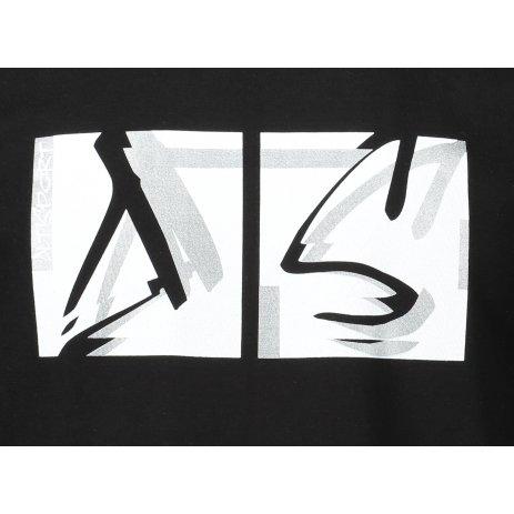 Pánské triko ALTISPORT ALM078129 ČERNOBÍLÁ