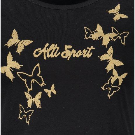 Dámské triko ALTISPORT ALW011F61 ČERNOZLATÁ