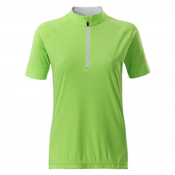 Dámský cyklo dres JAMES NICHOLSON JN513 BRIGHT GREEN/WHITE