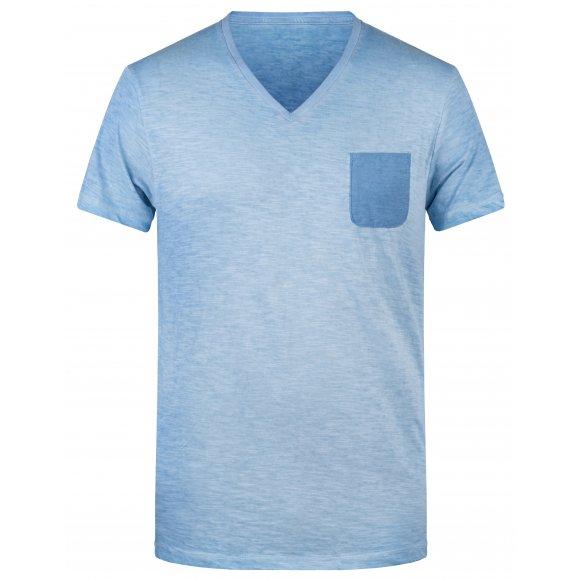 Pánské triko JAMES NICHOLSON 8016 HORIZON BLUE