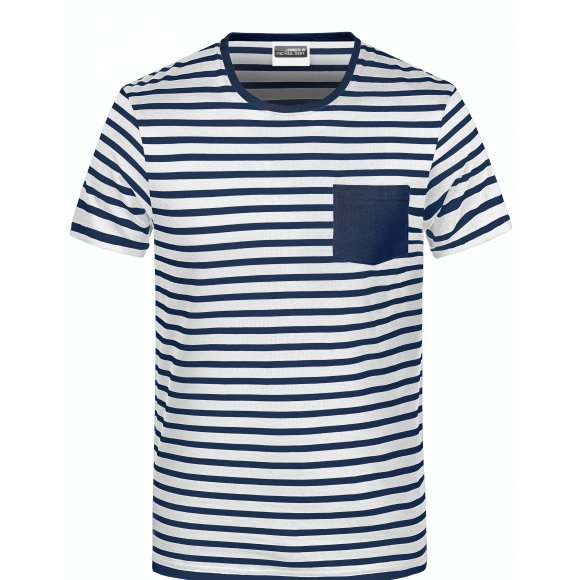 Dámské triko JAMES NICHOLSON 8027 WHITE/NAVY