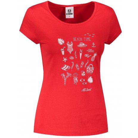Dámské triko ALTISPORT ALW104122 ČERVENÁ