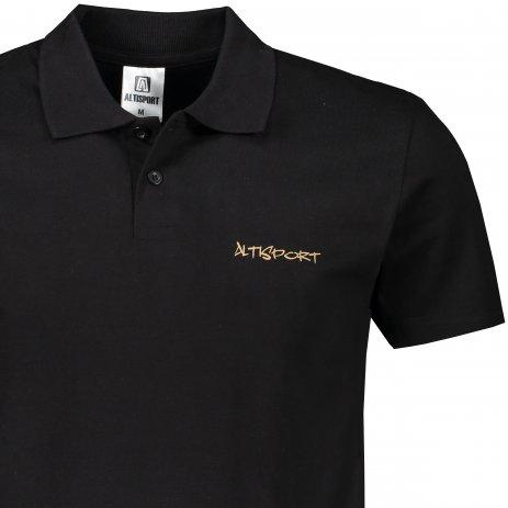 Pánské triko s límečkem ALTISPORT ALM110202 ČERNOZLATÁ