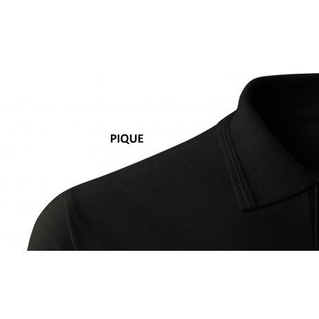 Dámské triko s límečkem ALTISPORT ALW056210 ČERNOBÍLÁ