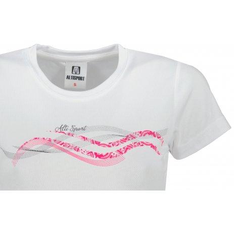 Dámské funkční triko ALTISPORT ALW085140 BÍLÁ
