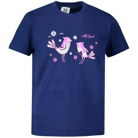Dětské triko ALTISPORT ALK094138 PŮLNOČNÍ MODRÁ