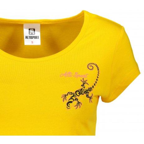 Dámské triko ALTISPORT ALW092122 ŽLUTÁ