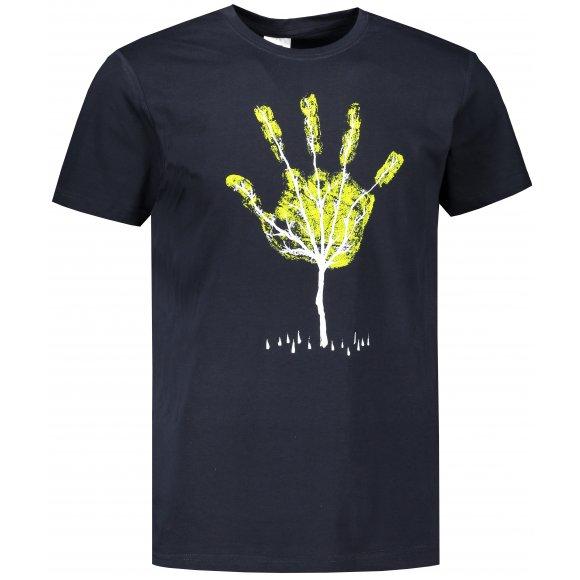 Pánské triko ALTISPORT ALM103129 NÁMOŘNÍ MODRÁ