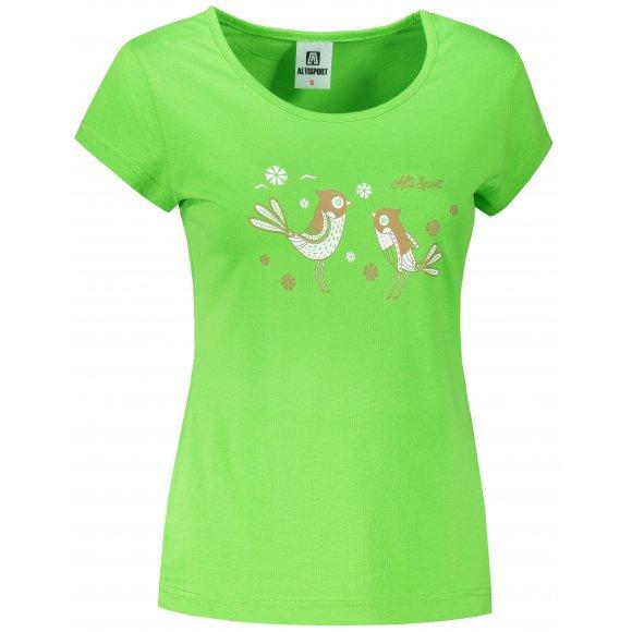 Dámské triko ALTISPORT ALW094122 APPLE GREEN