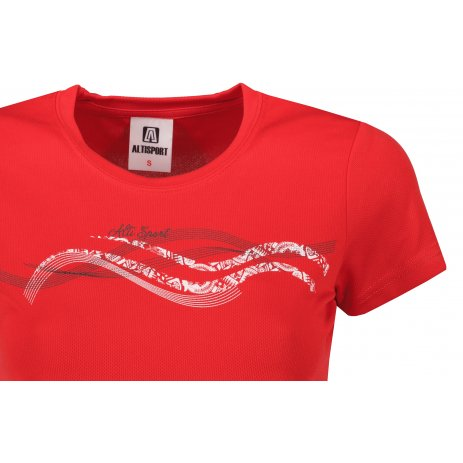 Dámské funkční triko ALTISPORT ALW085140 ČERVENÁ