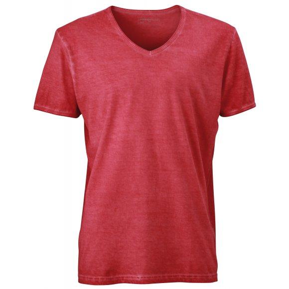 Pánské triko JAMES NICHOLSON JN976 RED
