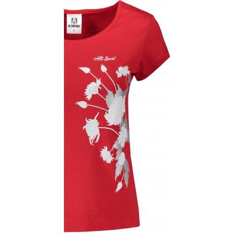 Dámské triko ALTISPORT ALW105122 ČERVENÁ