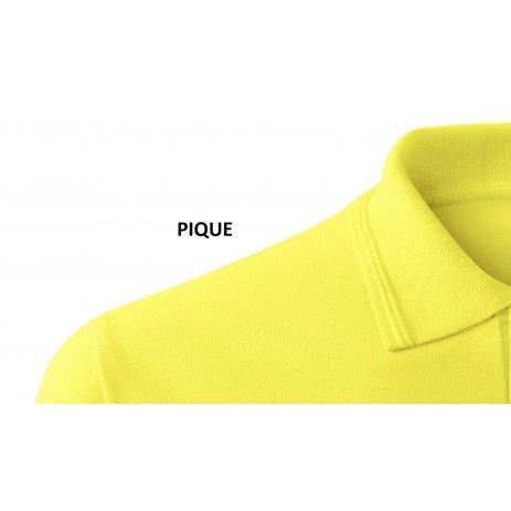 Pánské premium triko s límečkem ALTISPORT ALM002203 CITRÓNOVÁ