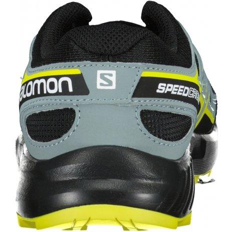 Dětské boty SALOMON SPEEDCROSS J L41447100 ČERNÁ/ČERNÁ/ZELENÁ