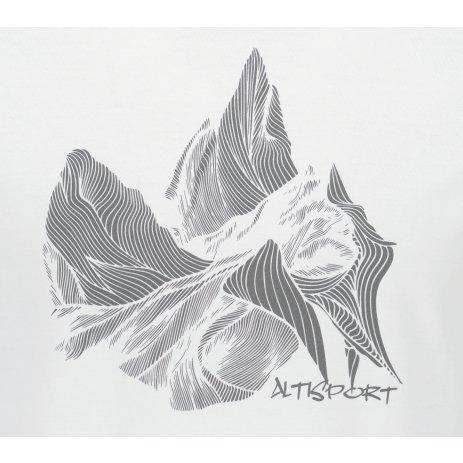 Pánské triko ALTISPORT ALM123129 BÍLÁ