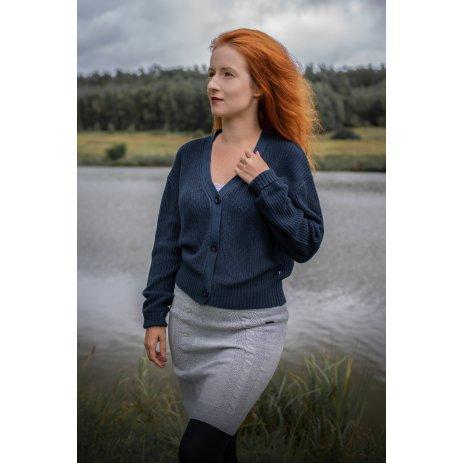 Dámská sukně KIXMI MEGGIE SVĚTLE ŠEDÁ