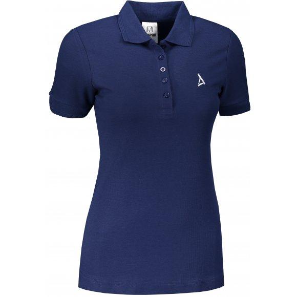 Dámské premium triko s límečkem ALTISPORT ALW002210 PŮLNOČNÍ MODRÁ
