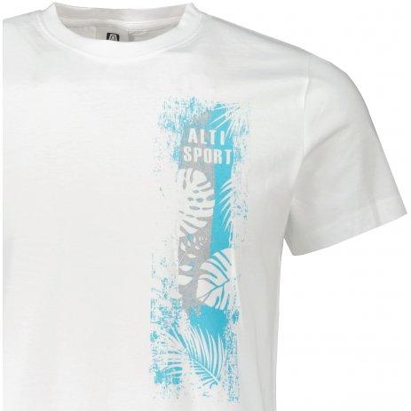 Pánské triko ALTISPORT ALM118129 BÍLÁ
