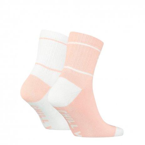 Ponožky PUMA UNISEX CHILL SHORT CREW 2P 935276-04 BÍLÁ/RŮŽOVÁ