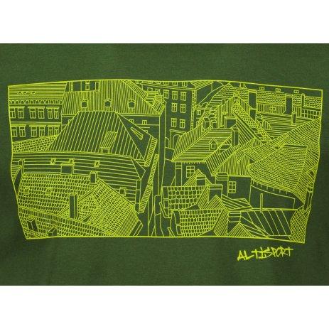 Pánské triko ALTISPORT ALM120129 LAHVOVĚ ZELENÁ