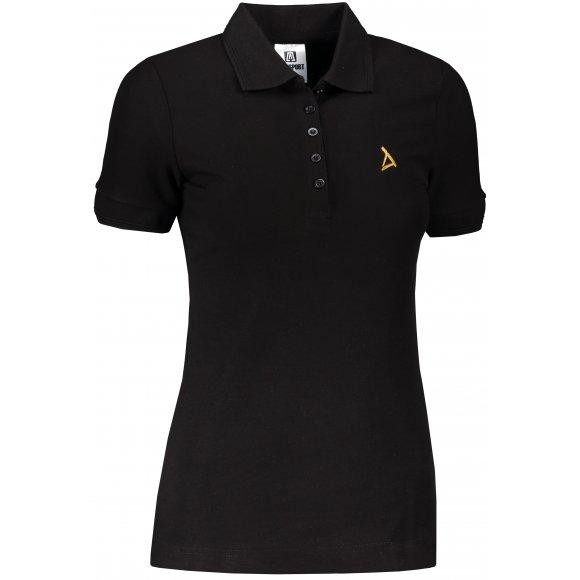 Dámské premium triko s límečkem ALTISPORT ALW002210 ČERNOZLATÁ