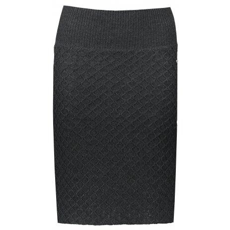 Dámská sukně KIXMI MERI TMAVĚ ŠEDÝ MELÍR