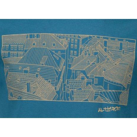 Pánské triko ALTISPORT ALM120129 PETROLEJOVÁ