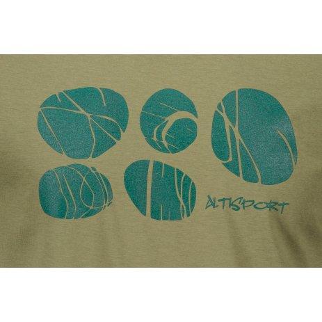 Pánské triko ALTISPORT ALM122129 KHAKI