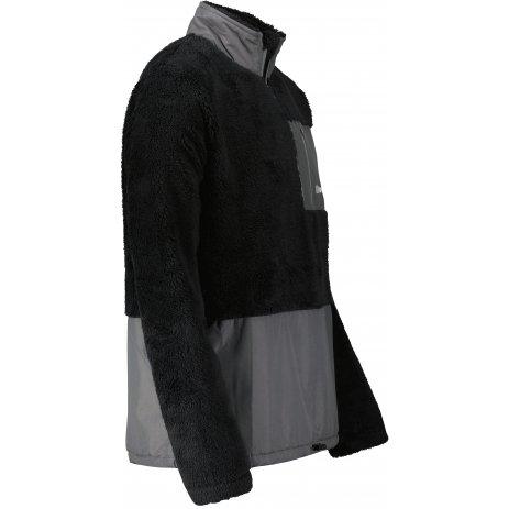 Pánská fleece mikina ALTISPORT HONOB MSWU307 ČERNÁ