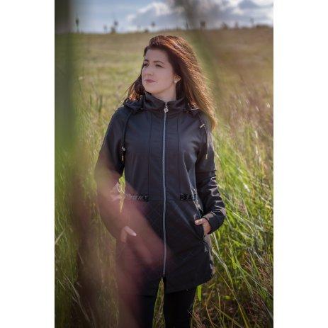 Dámský softshellový kabát KIXMI MARGERY ČERNÁ