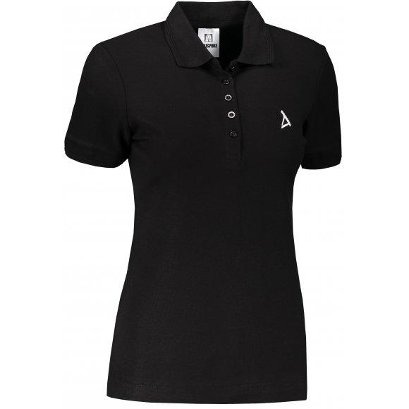 Dámské premium triko s límečkem ALTISPORT ALW002210 ČERNOBÍLÁ